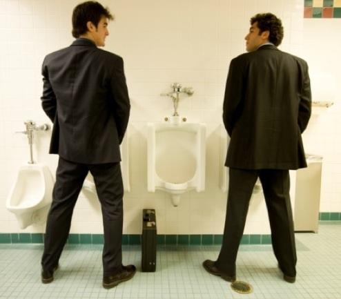 men-at-bathroom-urina - OpinionatedMale.coml