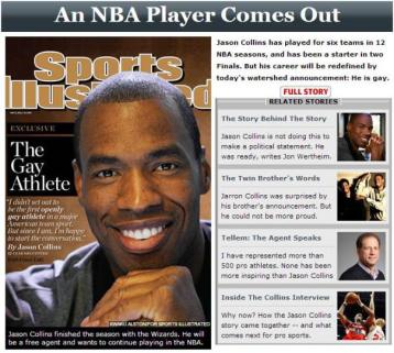 Jason Collins Gay - OpinionatedMale.com