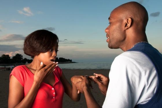 Black Couple marriage_proposal - OpinionatedMale.com