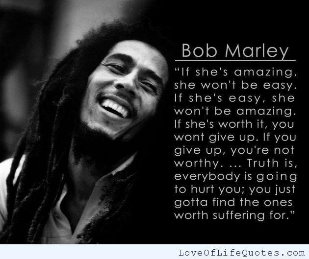 Bob Marley Quote - OpinionatedMale.com