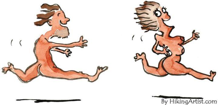 man chasing woman - Opinionatedmale.com